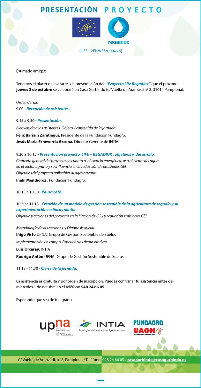 Jornada presentación Proyecto Regadiox